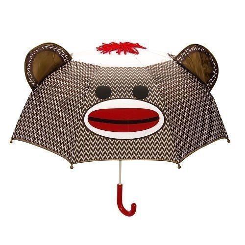 Sock Monkey Umbrella Kids Animal Umbrellas Rain Gear Room Decor Free Shipping #Schylling