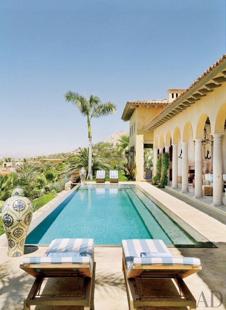 Exotic Pool by Marshall Watson Interiors and Stephen
