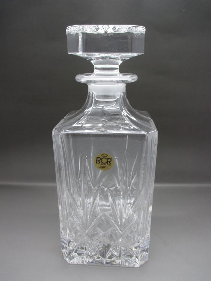 Royal Crystal Rock Square Decanter - Mint Condition ...