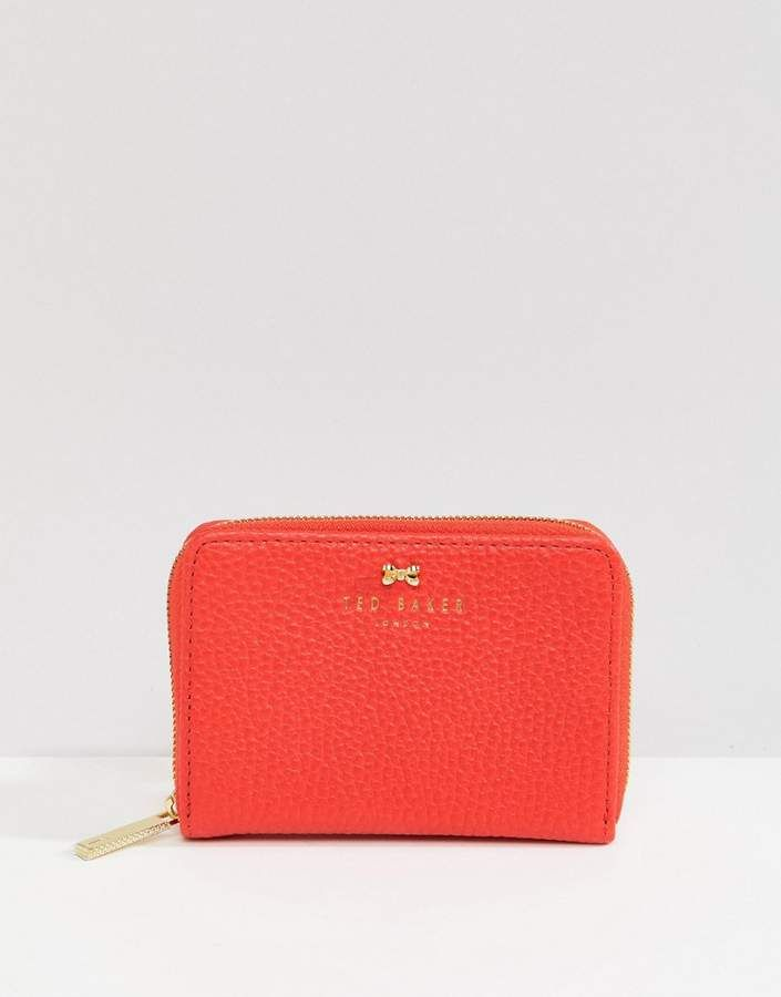 cfc3c109afae59 Ted Baker small zip purse in textured leather
