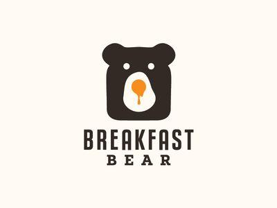 """Breakfast Bear"" this logo is just so cute!"