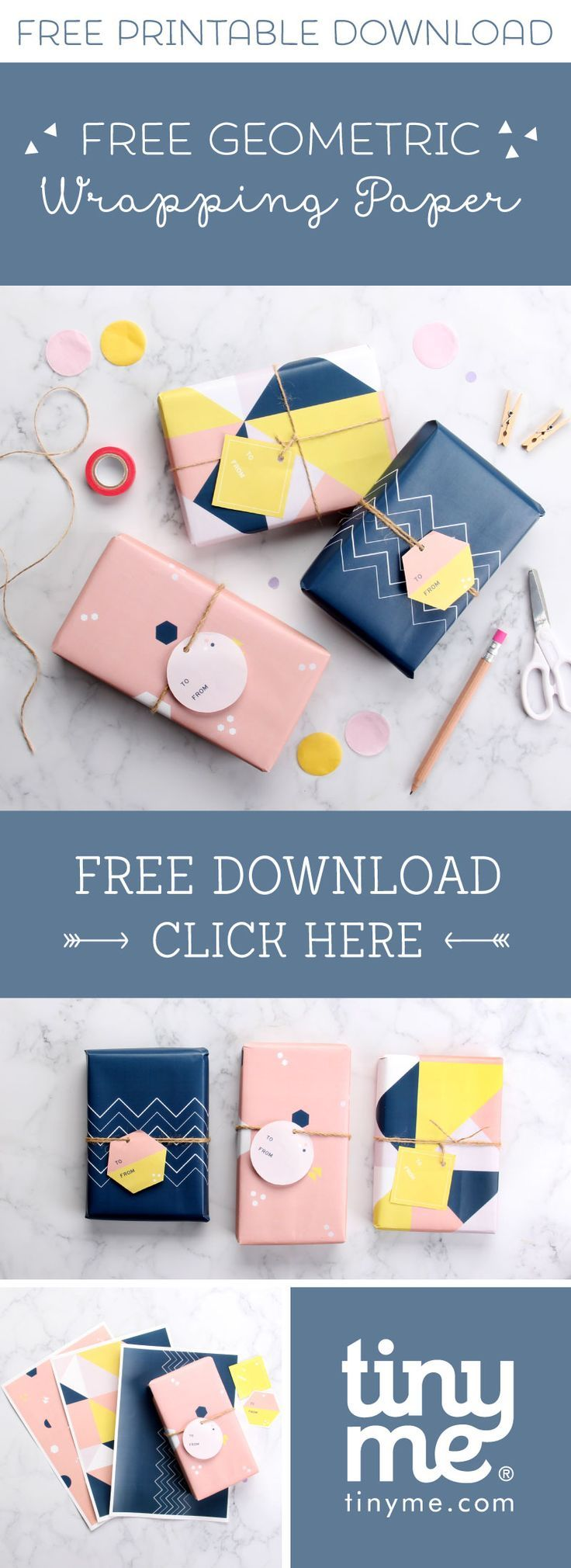 Get your wrap on with our Free Geometric Printable Wrapping Paper | Tinyme Blog