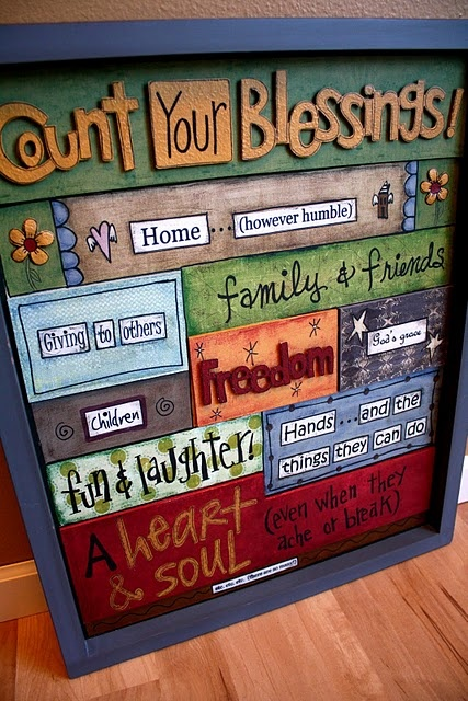 Count Your Blessings!: Wall Art, Crafts Ideas, Wall Hanging, Diy Crafts, Counted, Quote, Colors, Call Families, Nursing Home