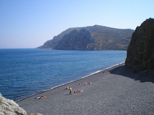 Mavra Volia beach, Chios where I will meet all my friends from NYC!