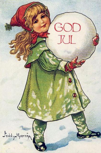 God Jul ♥ (Many vintage postcards on Flickr for personal use.)