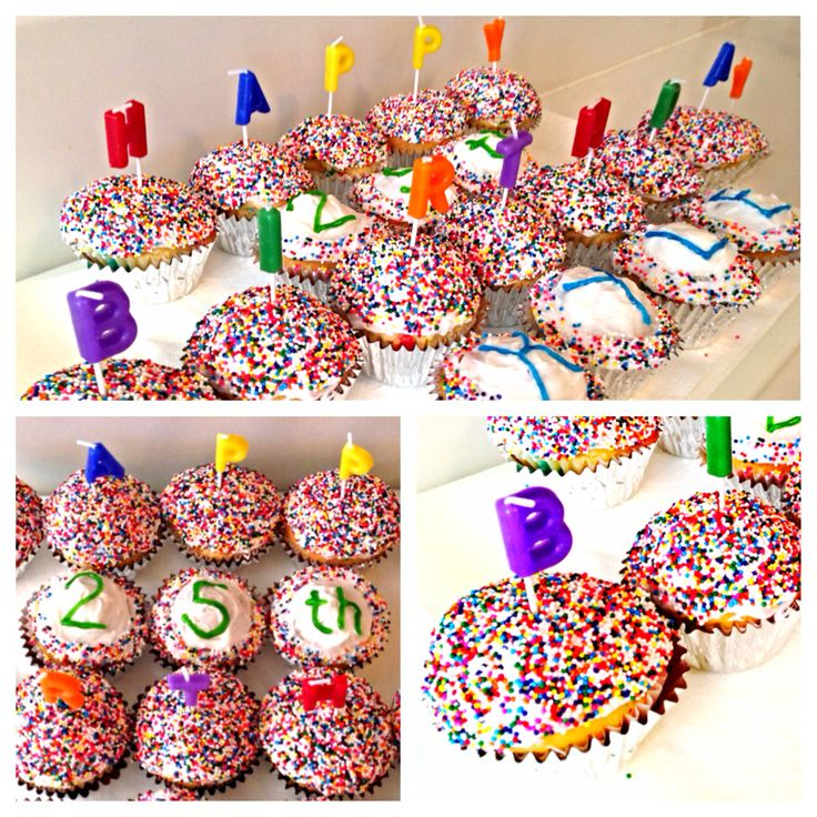 Cupcakes I made for my boyfriend's 25th birthday. Turned out a lot better than I anticipated =)