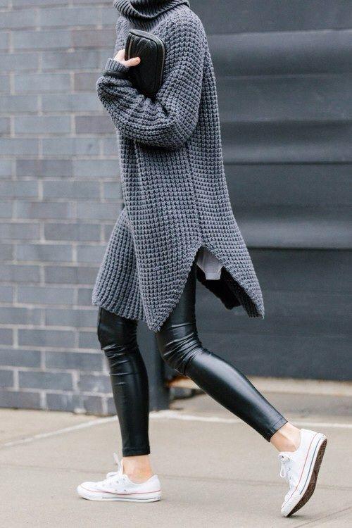 Leather leggies.