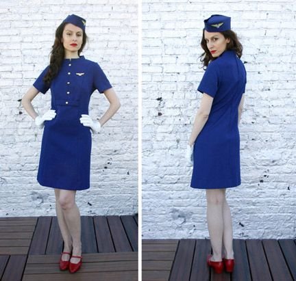 8-vintage-halloween-costumes - 60's flight attendant