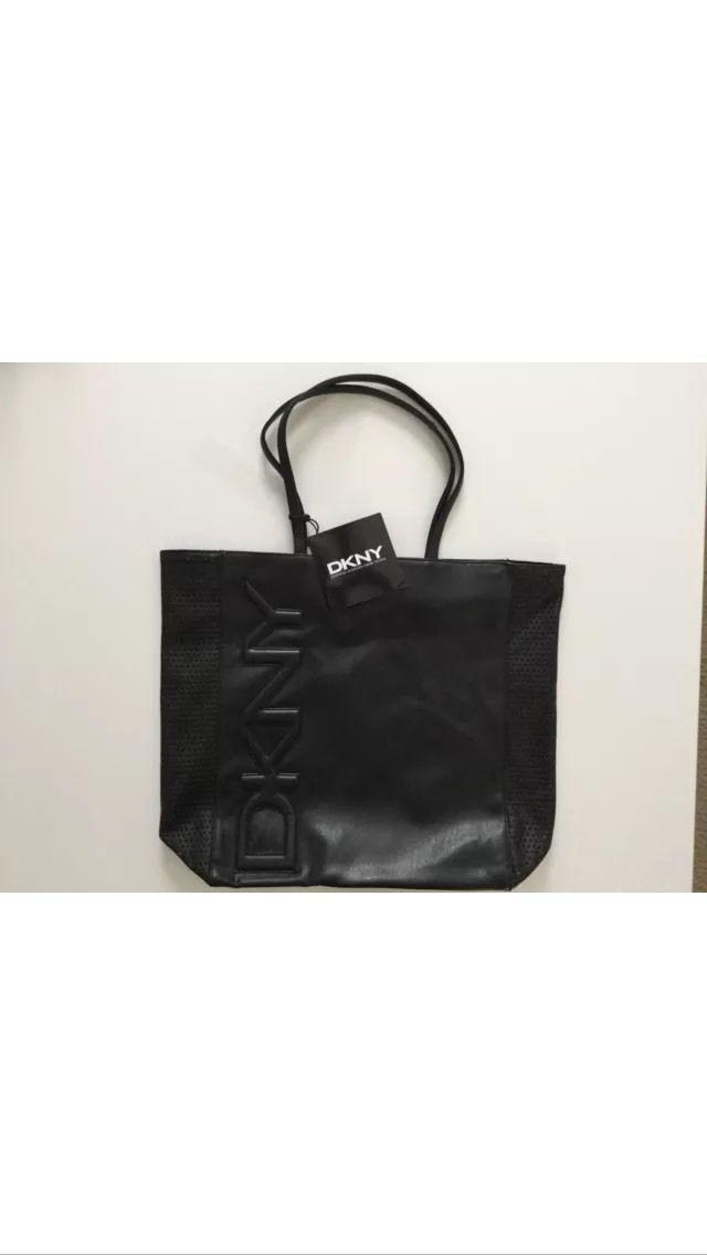 Dkny Parfums Black Tote Bag Purse Shopping Handbag