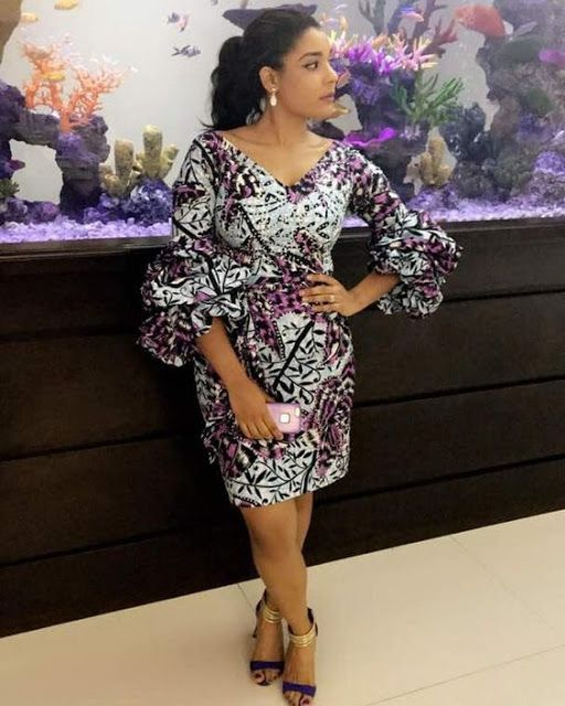 4e4af77d59a893 Online Hub For Fashion Beauty And Health  Stylishly Beautiful Ankara Short  Gown Dress For Th..