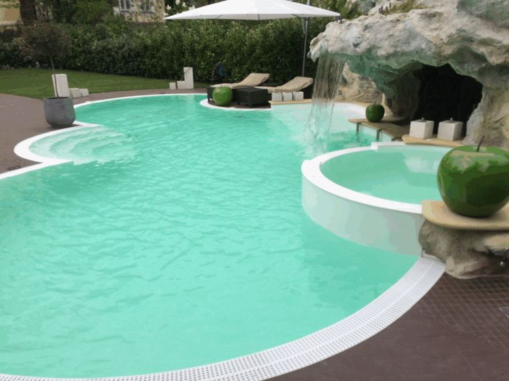 Cool luxus pool ein blauer luxus pool