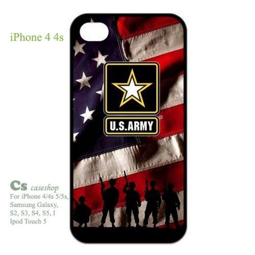 United States Army Logo and US Flag Case for iPhone 4 4s | 5STAR - Accessories on ArtFire