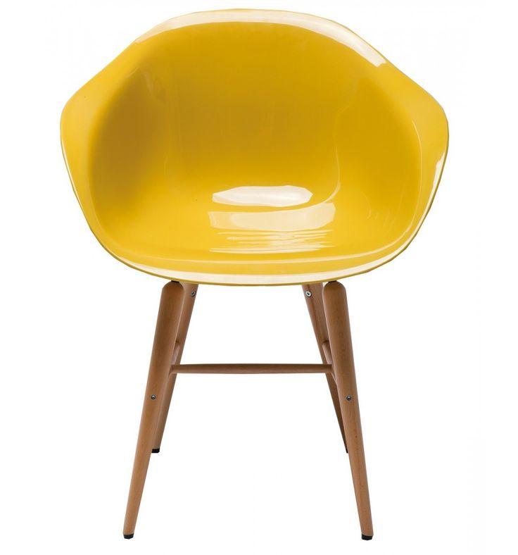 Sedia Forum Wood Giallo Senape Set/4 Kare Design