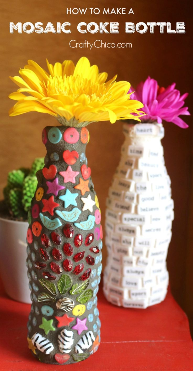 Our partner Kathy shares a DIY project that can add a pop of color to your home or creative space using a few items you may already have. Just grab an empty Coke bottle, colorful beads and a little imagination to create a DIY Mosaic Coke Bottle.