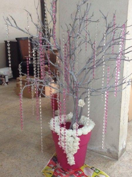 tuto arbre guirlande ou drag e snow princess pinterest wedding communion et mariage. Black Bedroom Furniture Sets. Home Design Ideas