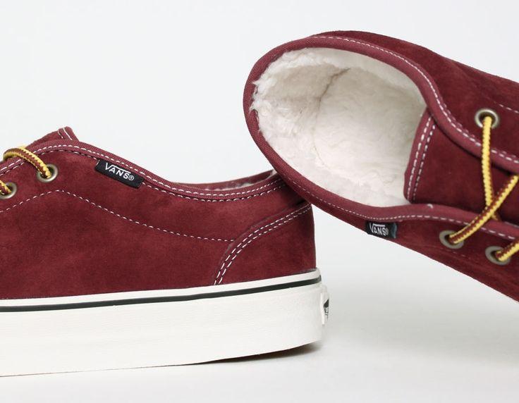 #Vans 106 Fleece Burgundy #Sneakers