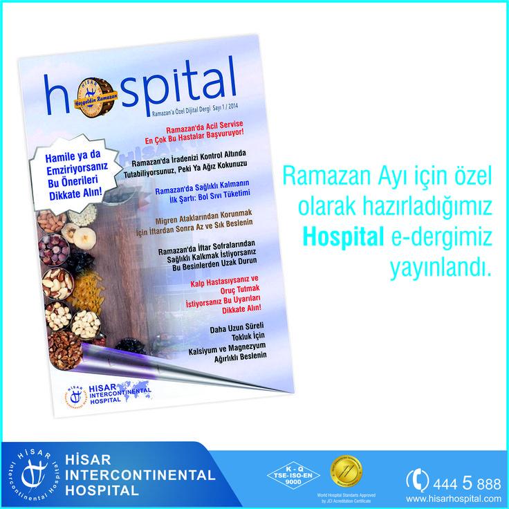Ramazan Ayı için özel olarak hazırladığımız Hospital e-dergimiz yayınlandı. Buradan ulaşablirsiniz---> http://ufa.lt/s8KWn0 #ramazan #saglik #oruc