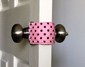 For ALL Moms: Door Jammer - allows you to open and close baby's door without making a sound. Keeps little ones from shutting themselves in the room. (This would be a great gift for new moms.) Add to scrap fabric ideas! - BRILLIANT!!!