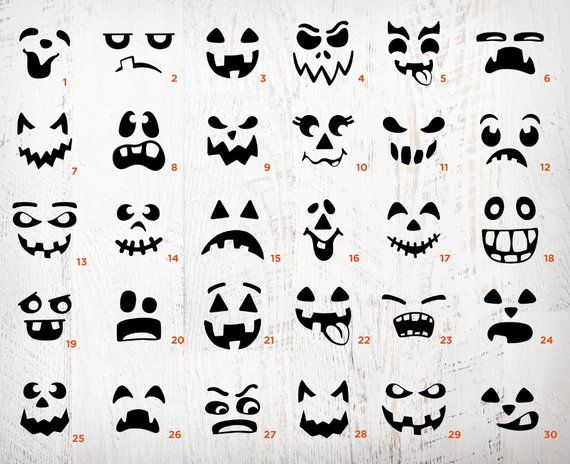 Pumpkin Face Svg Bundle Jack O Lantern Faces Png Bundle