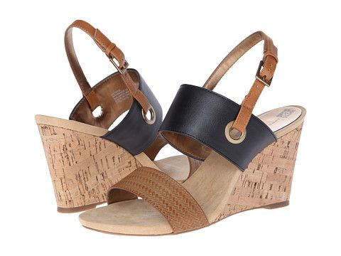 Anne Klein 'Taye' in cognac & black/available in Zappos