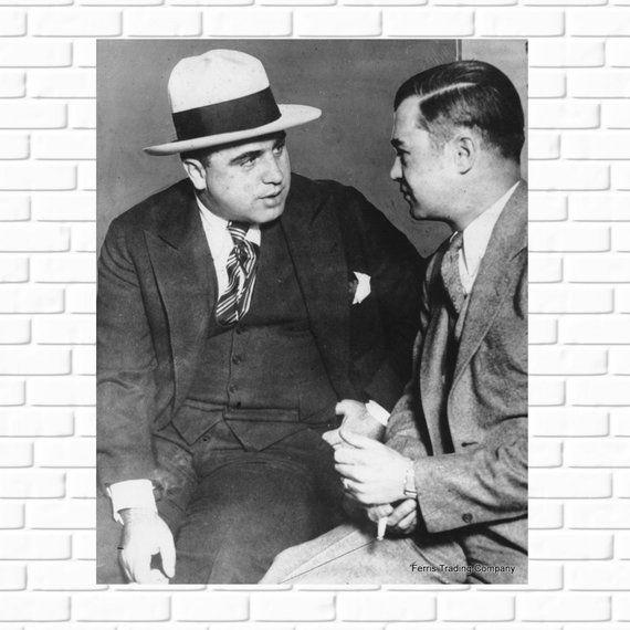 Al Capone 1929 Prohibition Photo Tax Evasion Chicago Etsy Al Capone Chicago Mafia Man Cave Wall Art