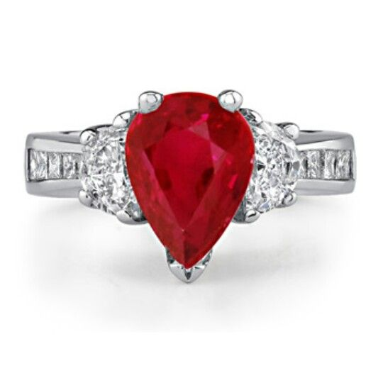 Angara Heart and Soul Ruby Promise Ring in Rose Gold 46QSMB