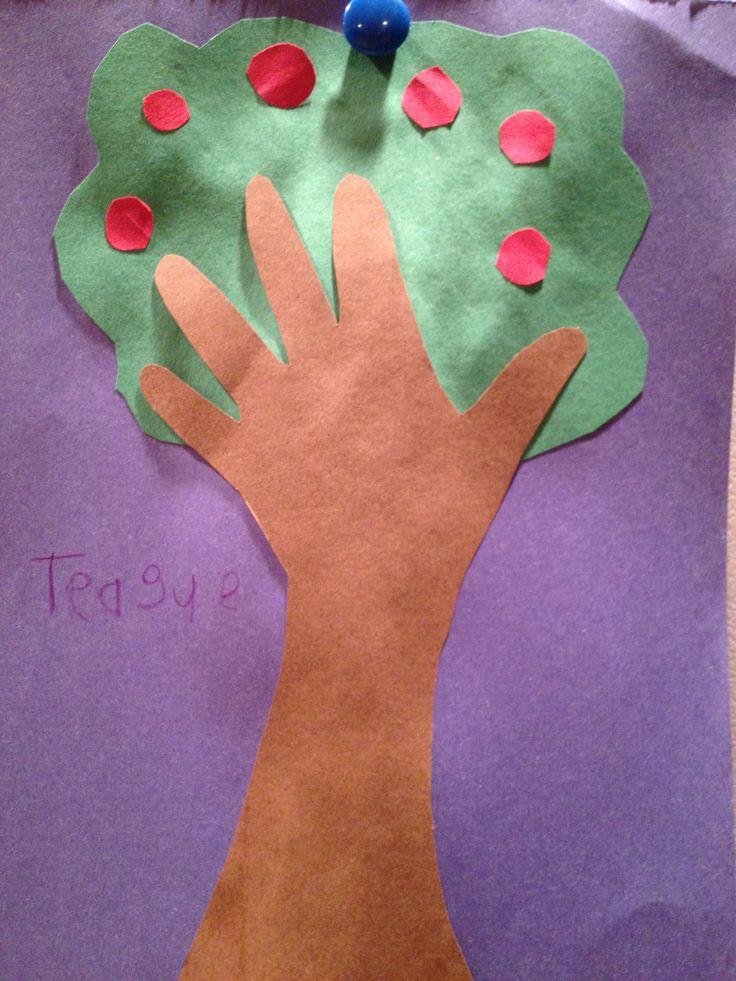 Apple Tree Craft Crafts For Kids Sunday School Crafts
