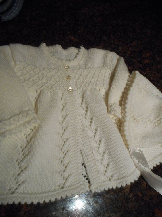 Beautiful Classic Baby Matinee Jackets Instructions For 3 Knit