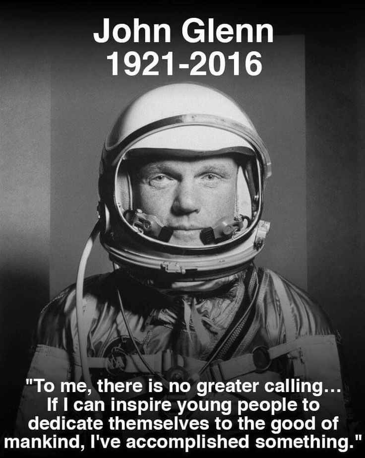 Astronaut John Glenn - first American to orbit the Earth