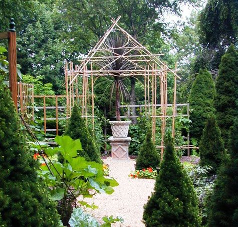 bamboo garden arbor love it garden ideas pinterest