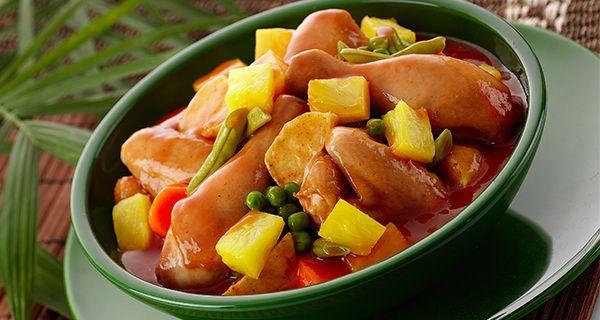 Pineapple Afritada | Del Monte Philippines http://www.delmonte.ph/kitchenomics/recipe/pineapple-afritada