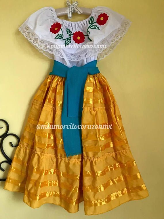 Mexican outfit mexican skirt mexican blouse mexican party fiesta mexicana day of the dead cinco de mayo folk folkloric dance coco frida