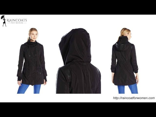 Women's Hooded Water Resistant Anorak - Blanc Noir