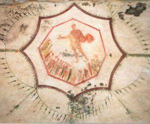 Catacombe di San Sebastiano, Roma (basilica di San Sebastiano fuori le mura). Affreschi del III-IV secolo