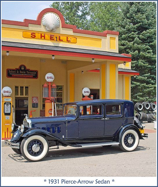 1931 Pierce-Arrow at the gas station    - by sjb4photos, via Flickr