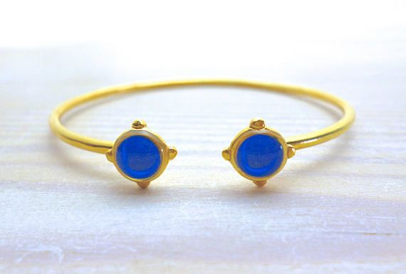 Hey, I found this really awesome Etsy listing at https://www.etsy.com/listing/571144223/royal-blue-bangle-bracelet-open-bangle