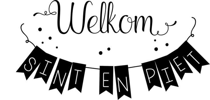 Raamsticker / Muursticker 'Welkom Sint en Piet'