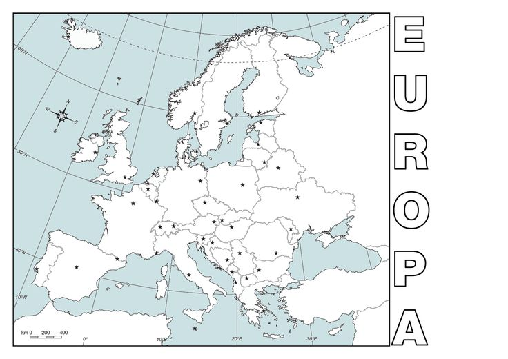 mapa pol tico mudo de europa para imprimir en din a4 geograf a pinterest mapa politico de. Black Bedroom Furniture Sets. Home Design Ideas