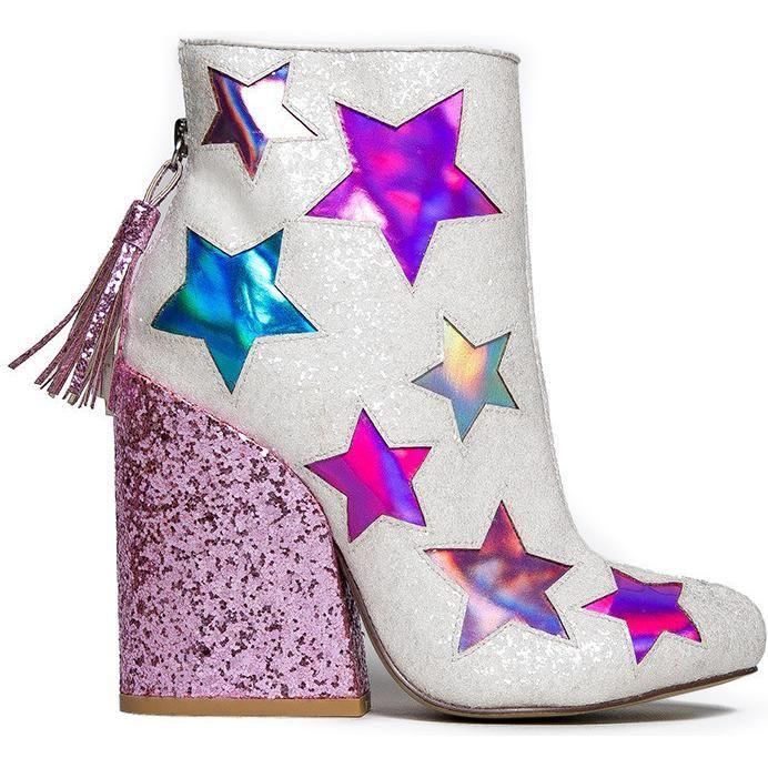 Yru Gem Star Glitter Boots as seen on Miley Cyrus: