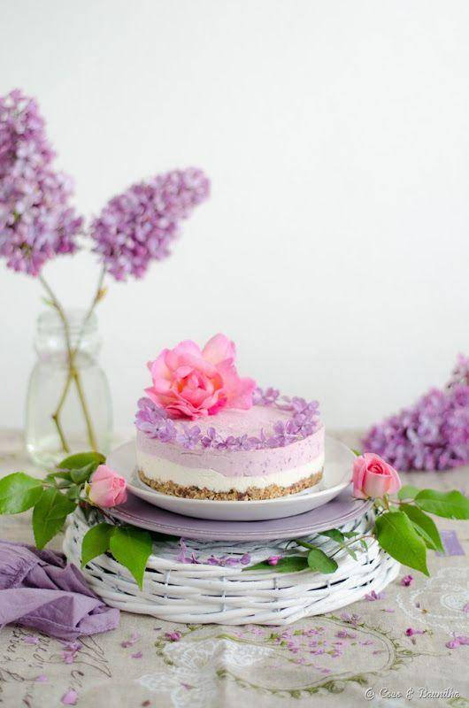 Coco e Baunilha: Cheesecake vegan de baunilha e framboesa