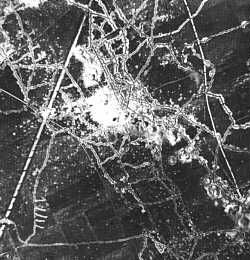Ariel view of trench warfare