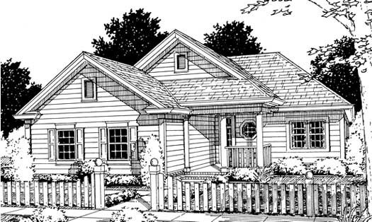 Ranch Style House Plans 1134 Square Foot Home 1 Story