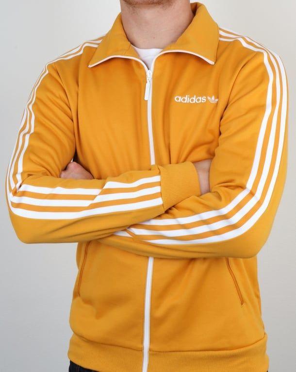 43344372a24 Adidas Originals Beckenbauer Track Top Yellow,tracksuit,jacket,mens,retro