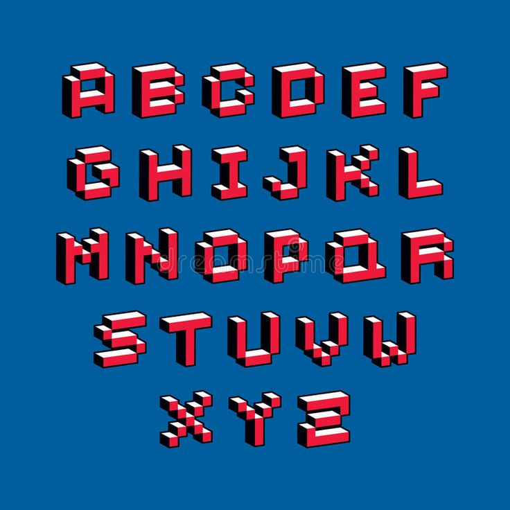 Cybernetic 3d Alphabet Letters