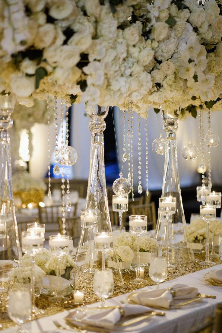 Suspended florals for weddings suspended floral arrangements - Nfl Tennessee Titans Player S Gold White Wedding In Nashville Tn