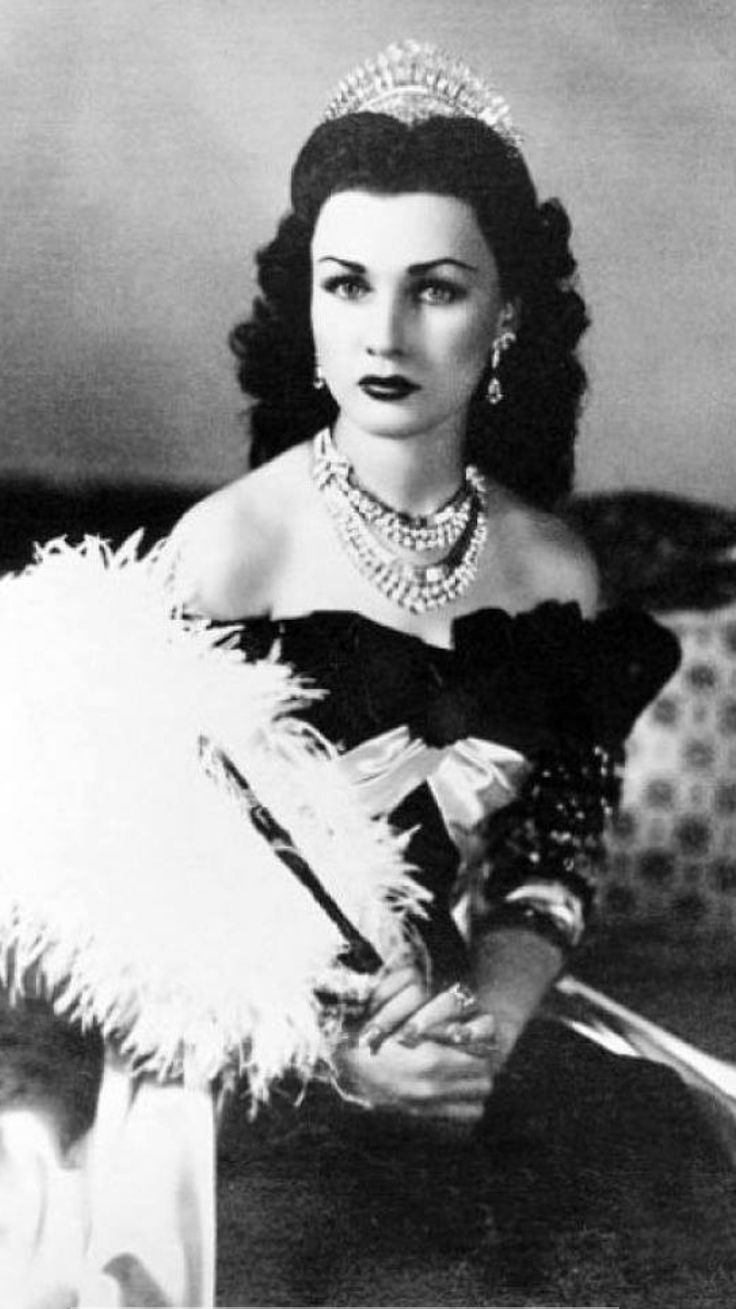 Fawzia Fuad, Princess of Iran and Queen of Egypt, 1939.