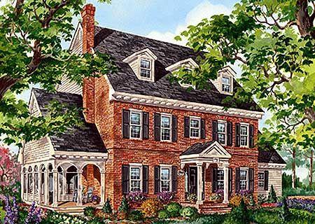Plan 80696PM: Classic Brick Colonial Home
