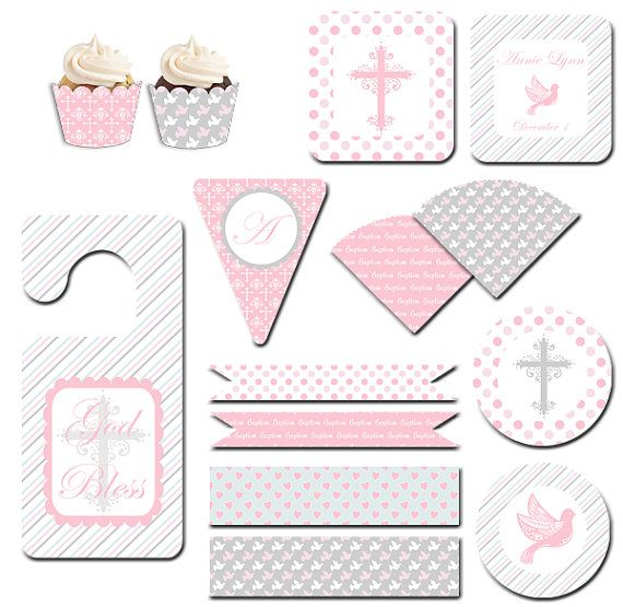 Girl Baptism/Christening Printable Party Kit by celebrateinprint, $15.00