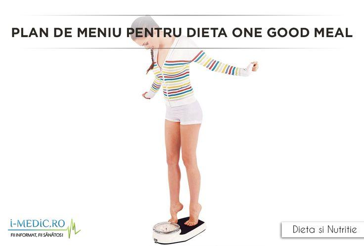 Dieta implica dieta luarea a doar unei mese bune pe saptamana. Este o dieta extrema pe care nu oricine o poate urma.  http://www.i-medic.ro/diete/plan-de-meniu-pentru-dieta-one-good-meal