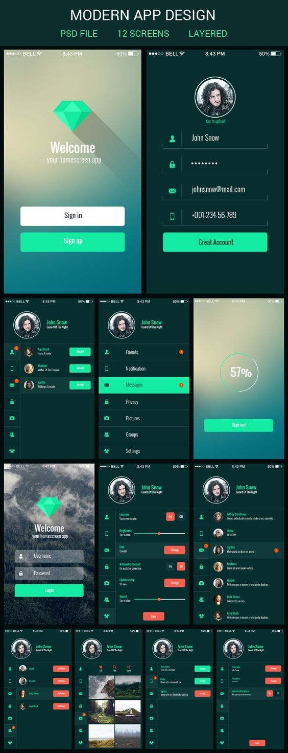 App Design Ideas flat design Mobile App Ui Kit Graphberrycom